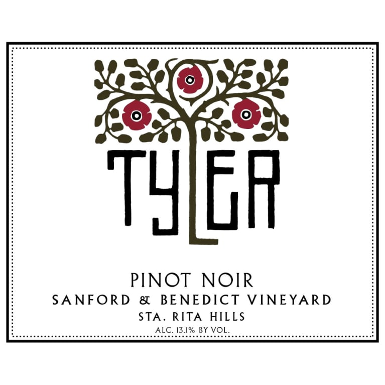 Tyler Winery Sanford and Benedict Pinot Noir 2013 Front Label