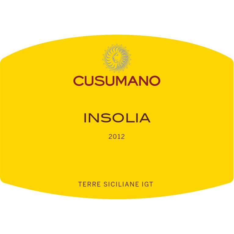 Cusumano Insolia 2012 Front Label