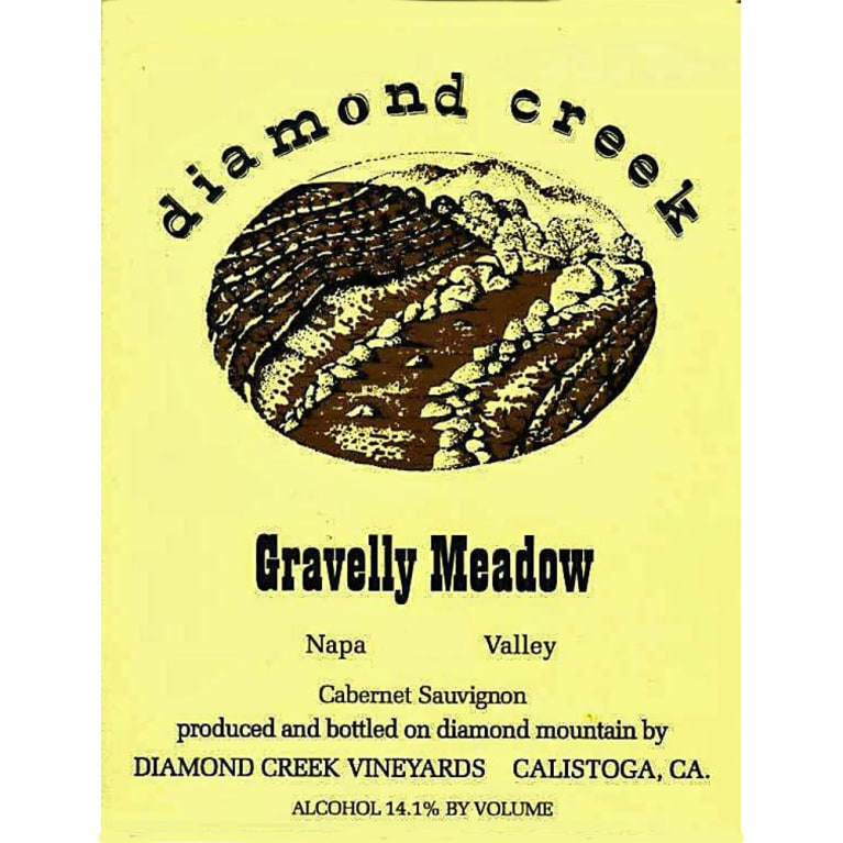 Diamond Creek Gravelly Meadow Cabernet Sauvignon 2005 Front Label