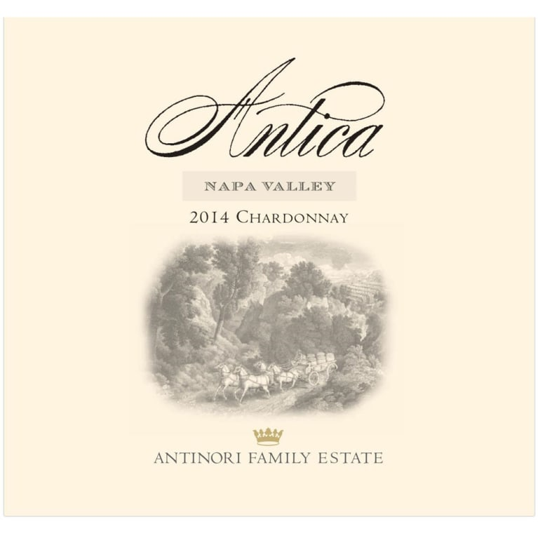 Antica Chardonnay 2014 Front Label