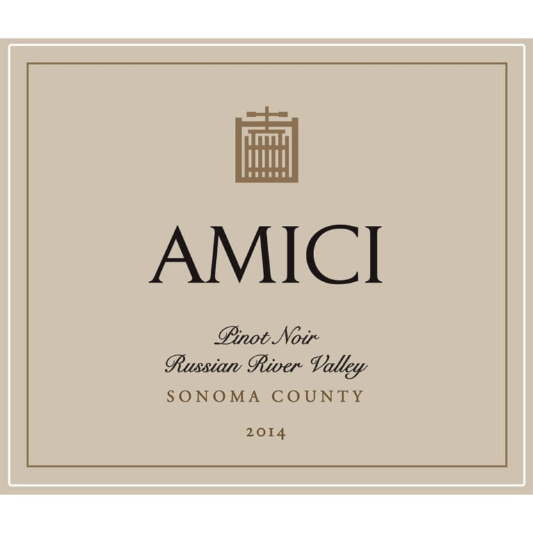 Amici Russian River Pinot Noir 2014 Front Label