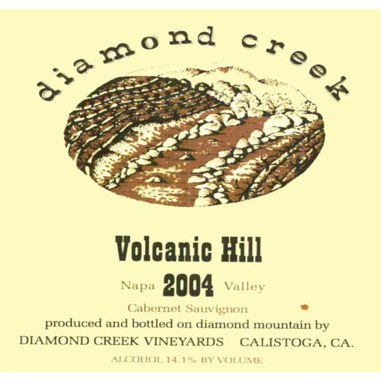 Diamond Creek Volcanic Hill Cabernet Sauvignon 2004 Front Label