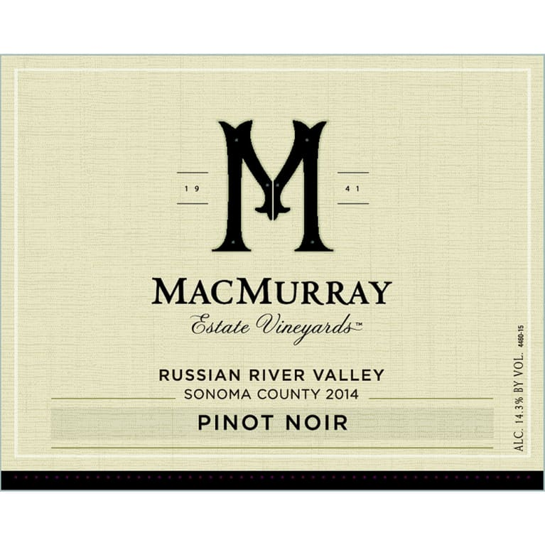 MacMurray Ranch Russian River Pinot Noir 2014 Front Label