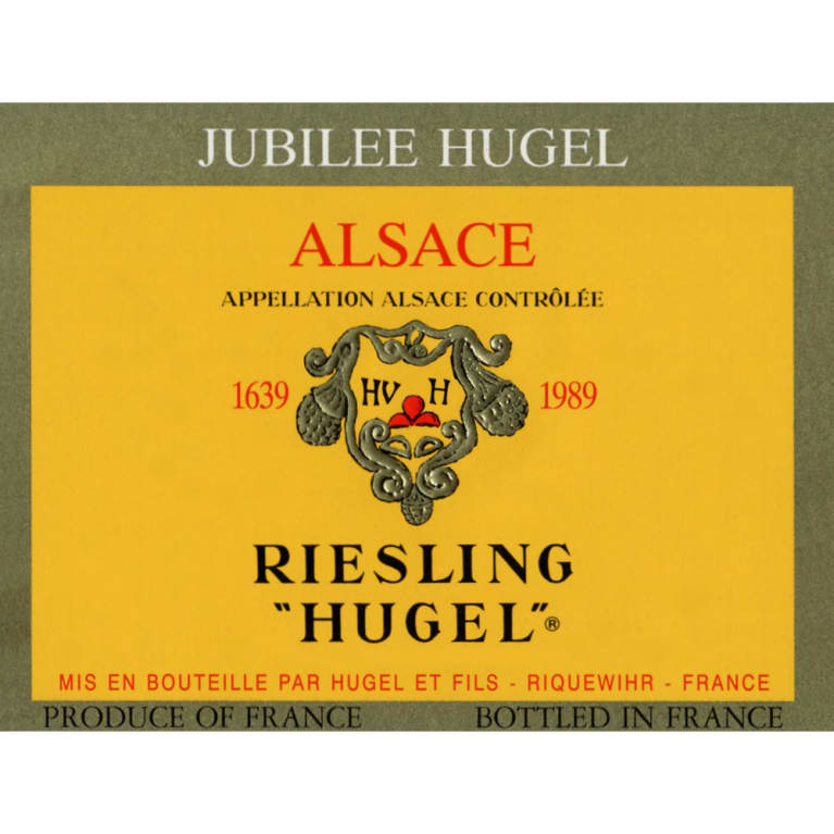 Hugel Riesling Jubilee Grand Cru 2009 Front Label