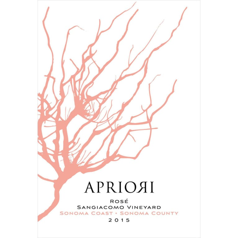 Apriori Cellar Sangiacomo Vineyard Rose 2015 Front Label