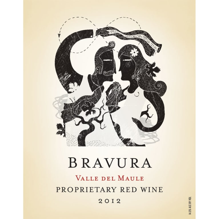 Alcance Bravura Red Blend 2012 Front Label