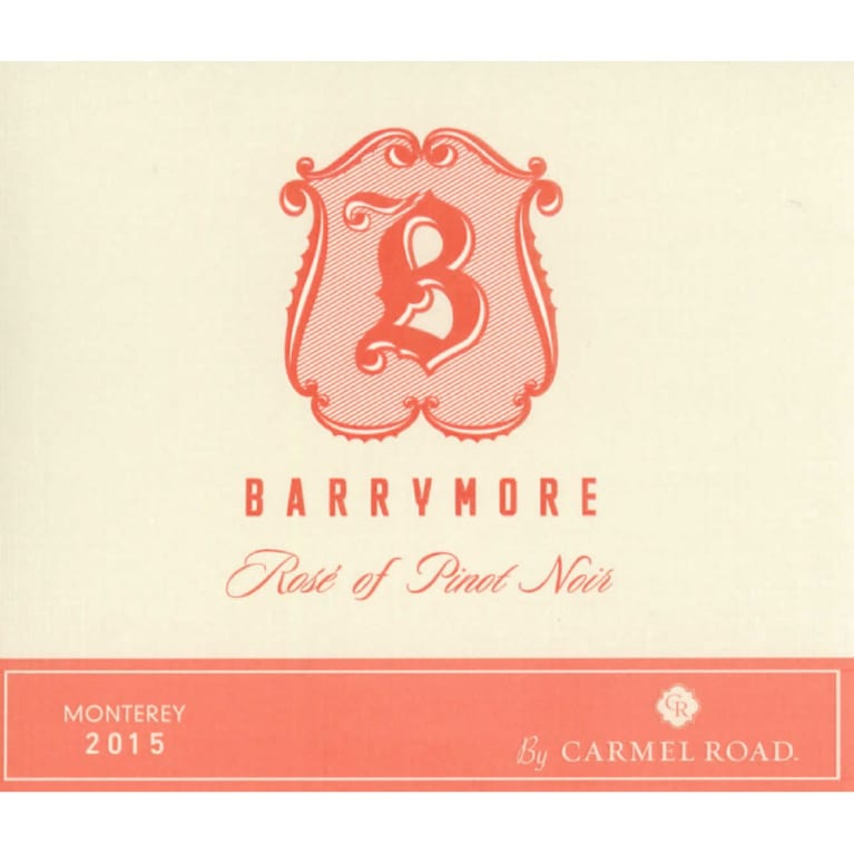 Barrymore by Carmel Road Rose of Pinot Noir 2015 Front Label