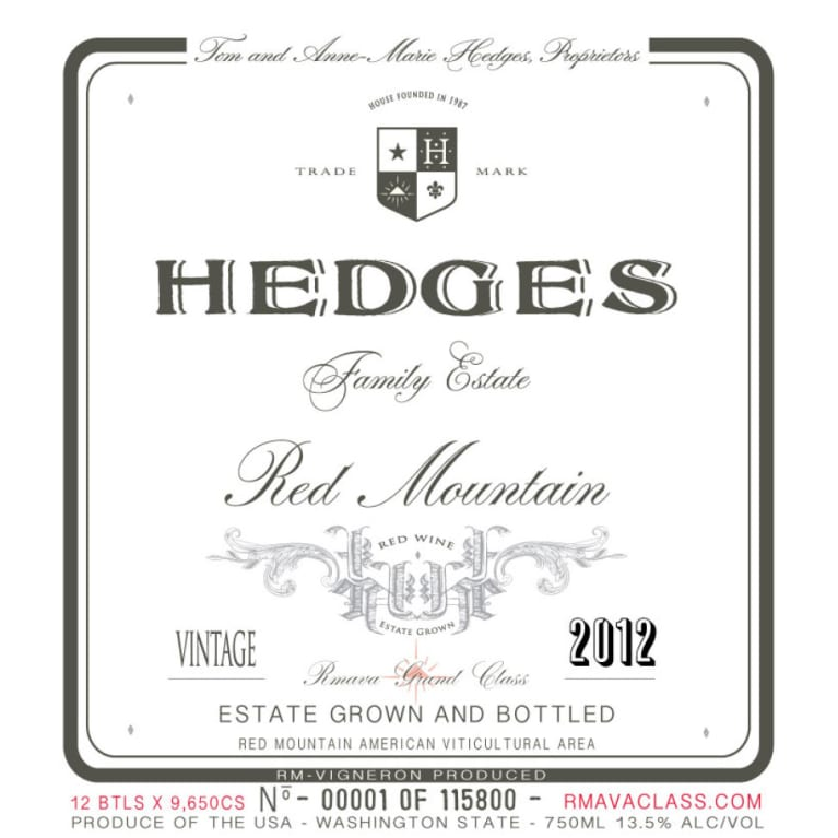Hedges Family Estate Red Mountain 2012 Wine