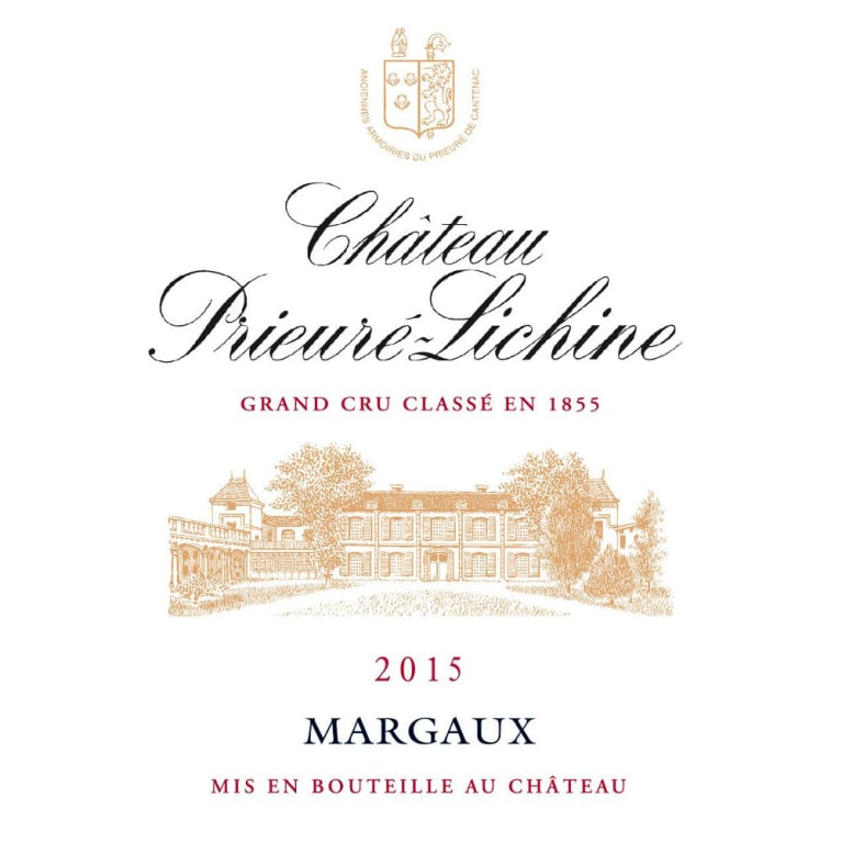 Chateau Prieure-Lichine  2015 Front Label