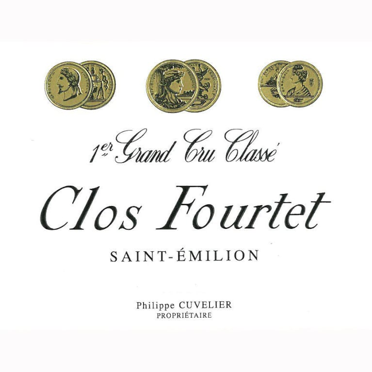 Clos Fourtet  2015 Front Label