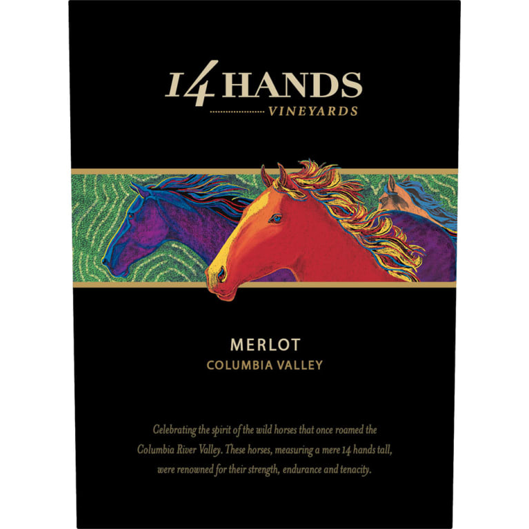 14 Hands Merlot 2014 Front Label