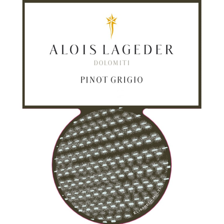 Alois Lageder Dolomitti Pinot Grigio 2015 Front Label