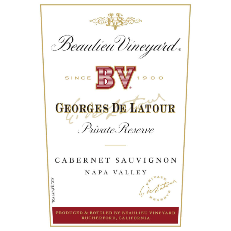 Beaulieu Vineyard Georges de Latour Private Reserve 1968 Front Label
