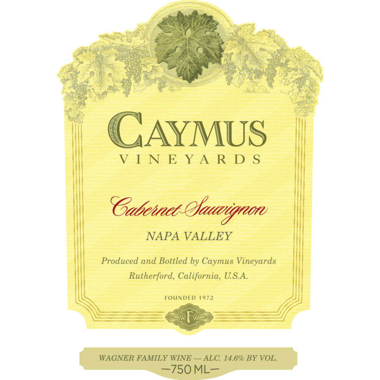 Caymus Napa Valley Cabernet Sauvignon 2014 Front Label