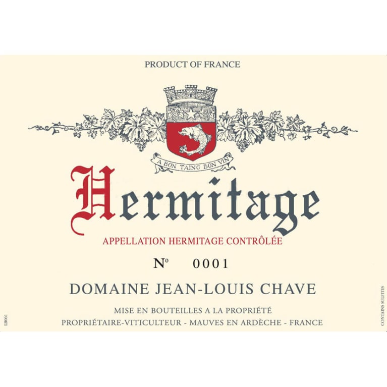 Jean-Louis Chave Hermitage Blanc 2013 Front Label
