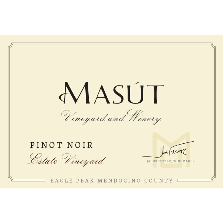 Masut Estate Vineyard Pinot Noir 2014 Front Label