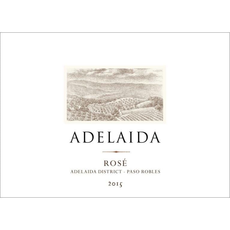 Adelaida Estate Rose 2015 Front Label