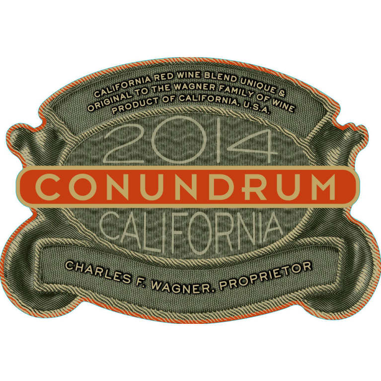 Conundrum Red Blend 2014 Front Label
