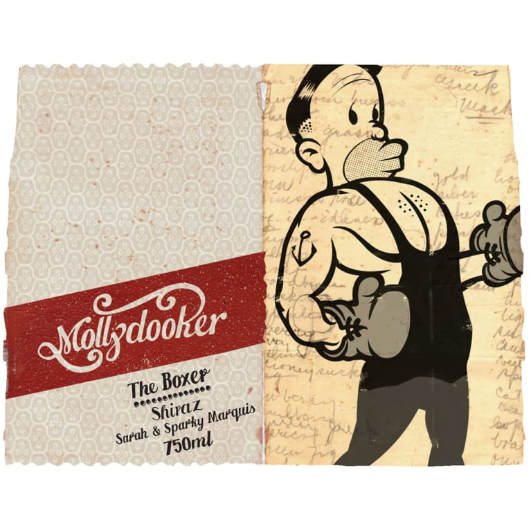 Mollydooker The Boxer Shiraz 2015 Front Label
