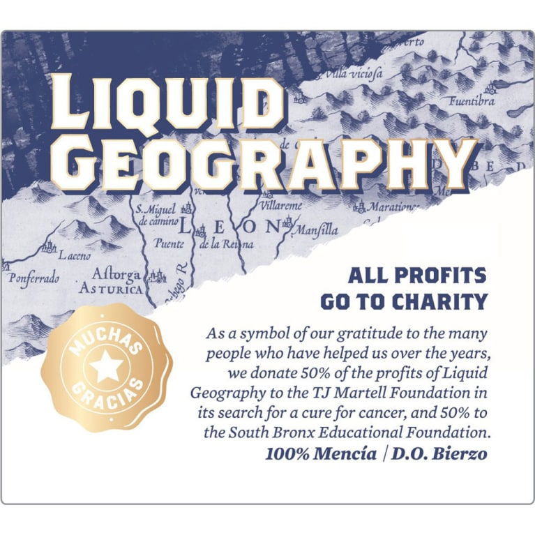 Liquid Geography Rosado 2015 Front Label