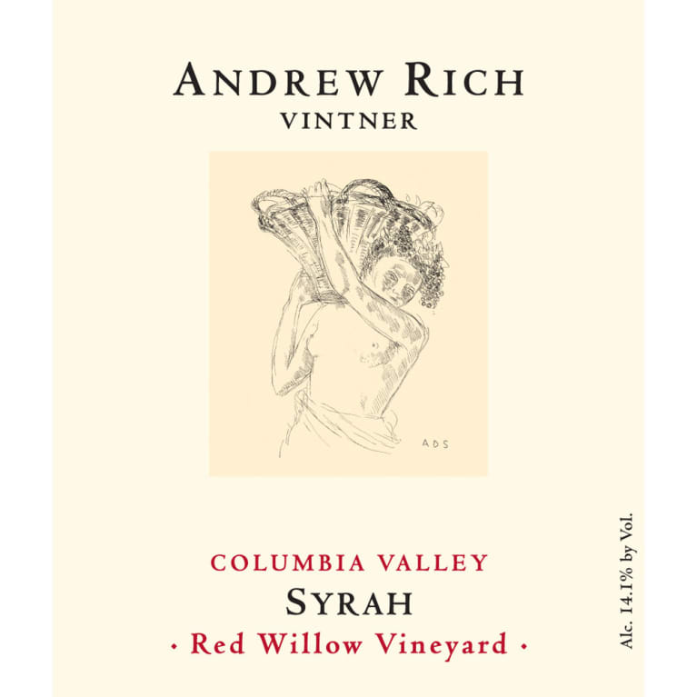 Andrew Rich Red Willow Vineyard Syrah 2010 Front Label