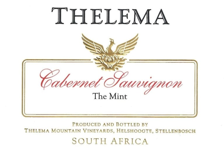 Thelema The Mint Cabernet Sauvignon 2012 Front Label