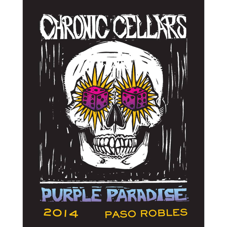 Chronic Cellars Purple Paradise Red Blend 2014 Front Label