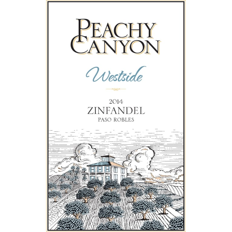 Peachy Canyon Westside Zinfandel 2014 Front Label