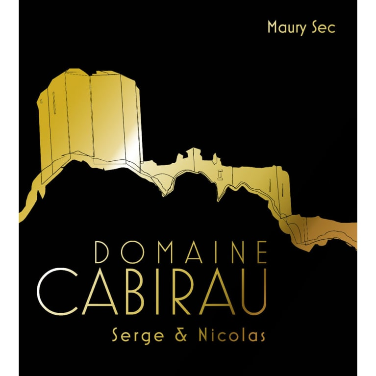 Domaine Cabirau Maury Sec Serge and Nicolas 2014 Front Label