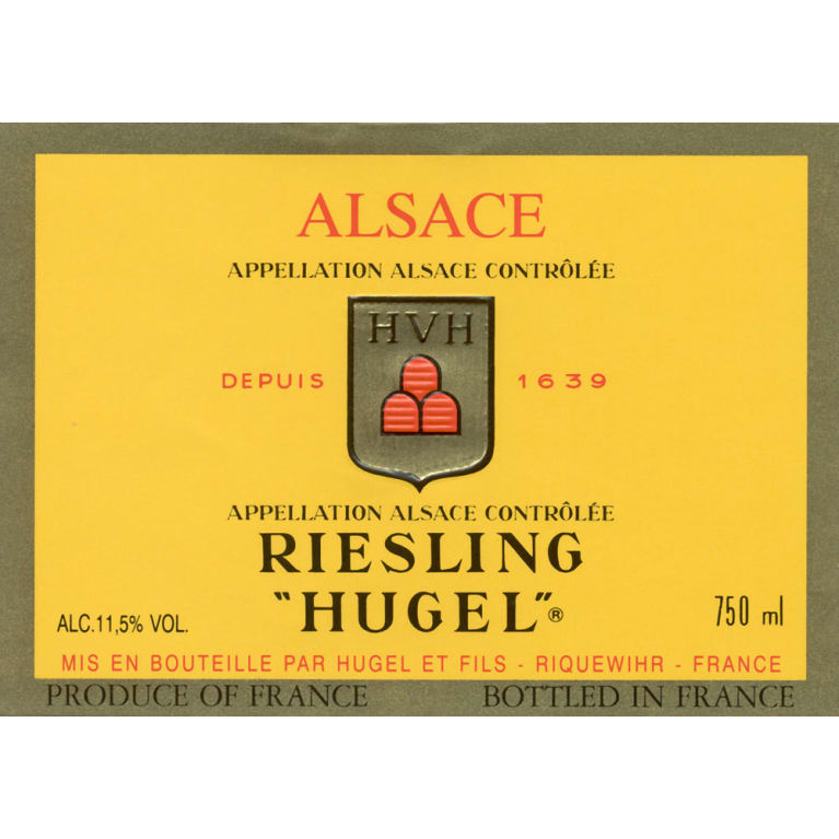 Hugel Classic Riesling (375ML half-bottle) 2014 Front Label