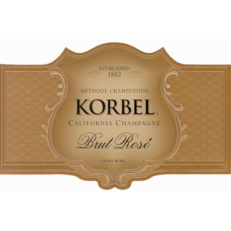 Korbel Brut Rose Front Label