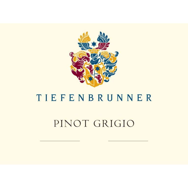Tiefenbrunner Pinot Grigio 2015 Front Label