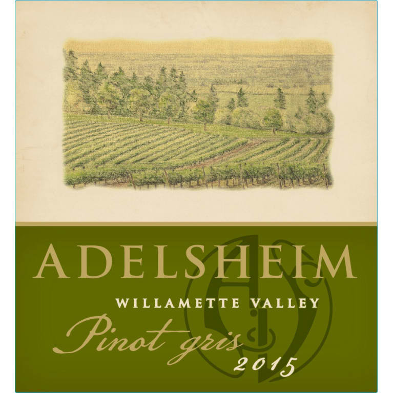 Adelsheim Pinot Gris (375ML half-bottle) 2015 Front Label