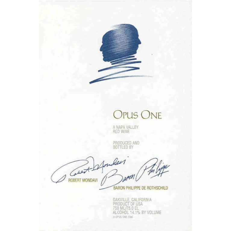 Opus One  1988 Front Label