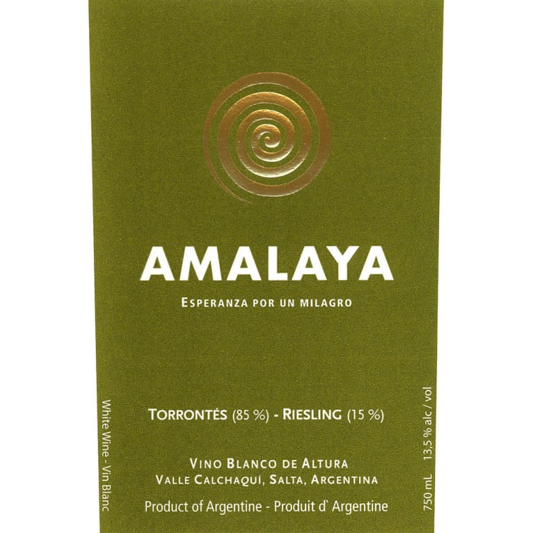 Amalaya Blanco 2015 Front Label