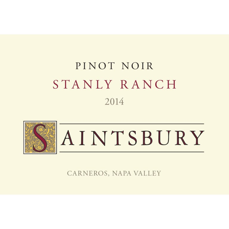 Saintsbury Stanly Ranch Carneros Pinot Noir 2014 Front Label