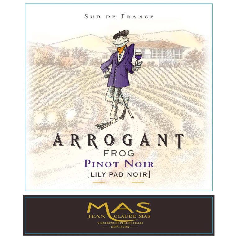 Arrogant Frog Lily Pad Pinot Noir 2015 Front Label