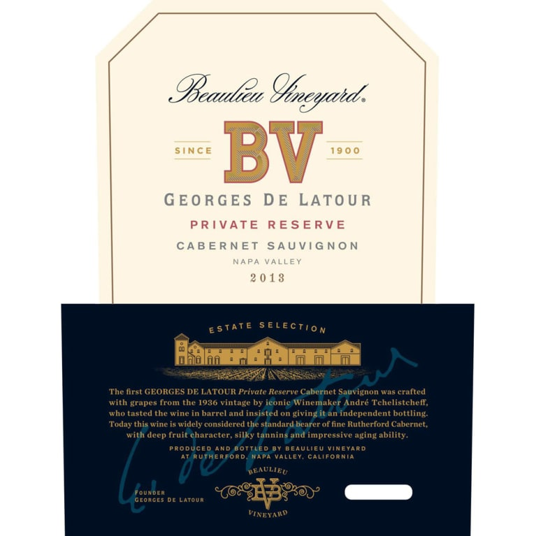 Beaulieu Vineyard Georges de Latour Private Reserve 2013 Front Label