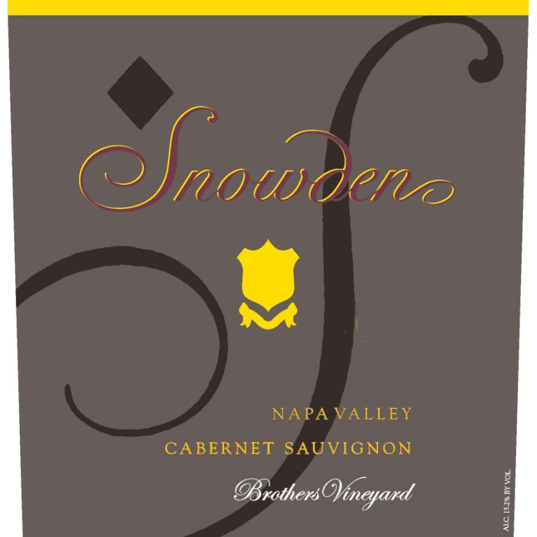 Snowden Brothers Vineyard Cabernet Sauvignon 2014 Front Label