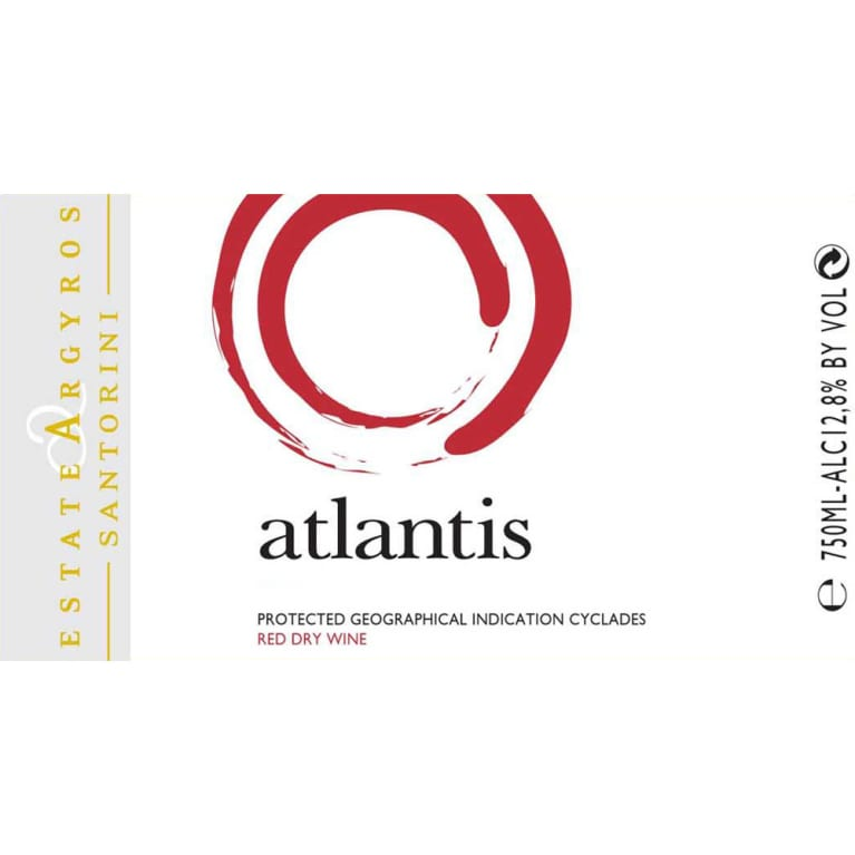 Argyros Estate Atlantis Red 2014 Front Label