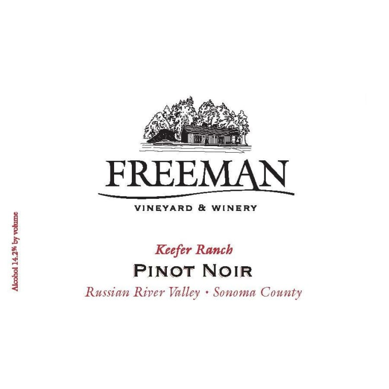 Freeman Keefer Ranch Pinot Noir 2013 Front Label