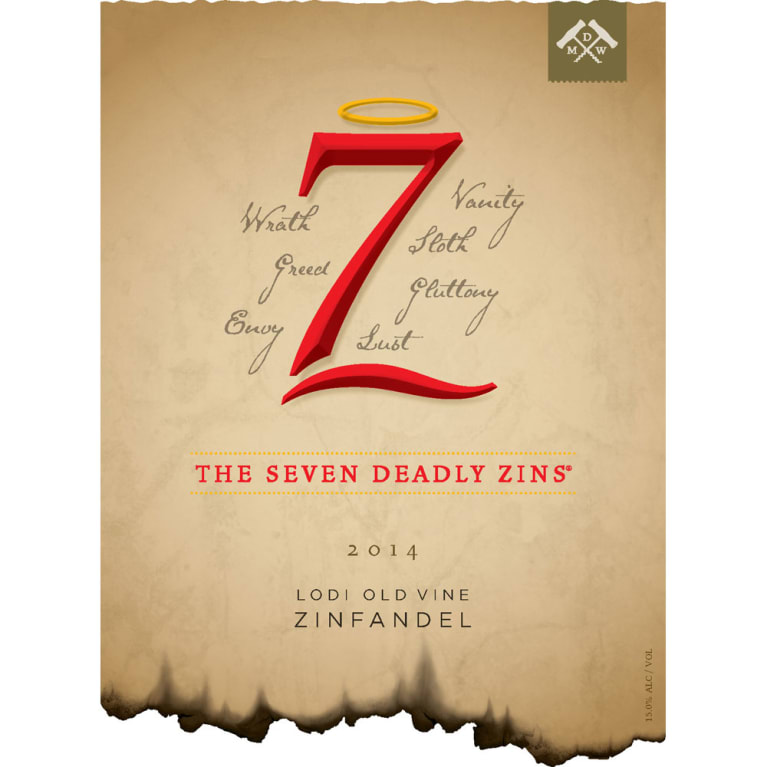 Michael David Winery 7 Deadly Zins Zinfandel 2014 Front Label