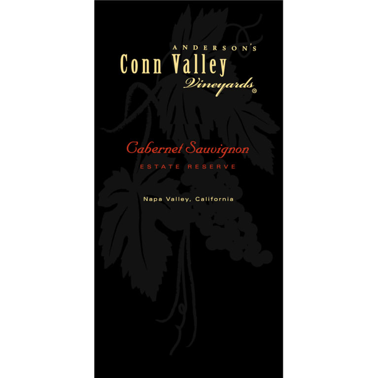 Anderson's Conn Valley Vineyards Estate Reserve Cabernet Sauvignon 1995 Front Label