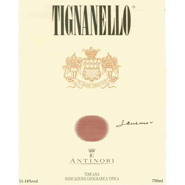 Antinori Tignanello (1.5 Liter Magnum - stained label) 1995 Front Label