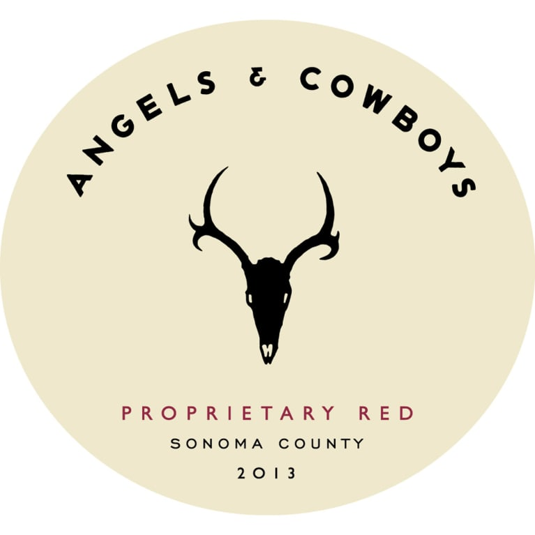 Angels & Cowboys Proprietary Red Blend 2013 Front Label