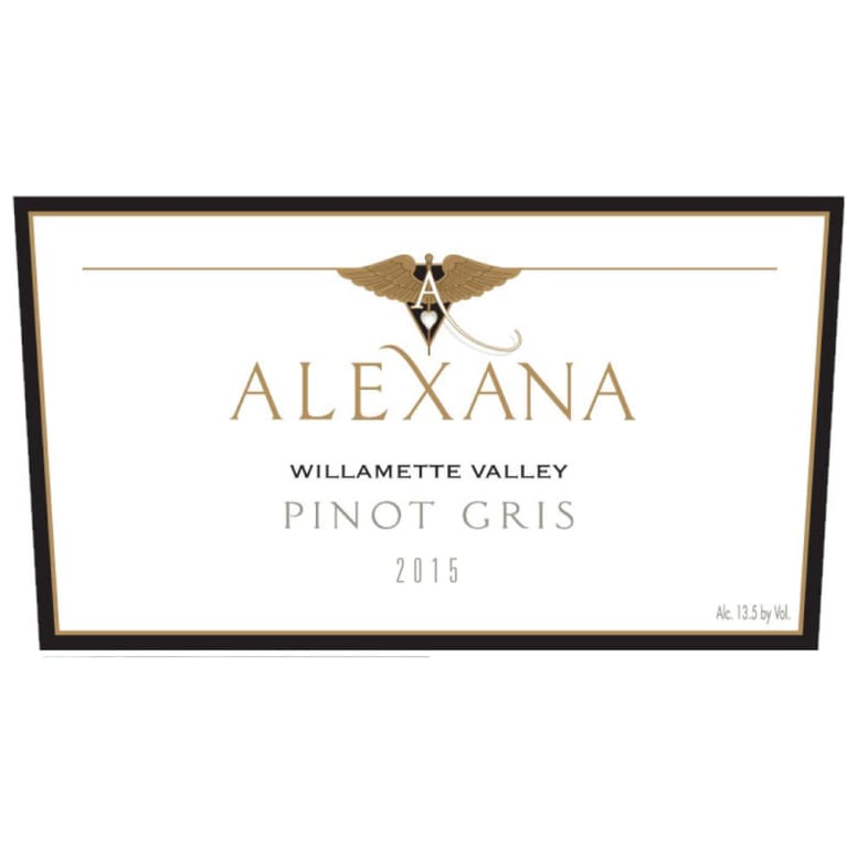 Alexana Willamette Valley Pinot Gris 2015 Front Label