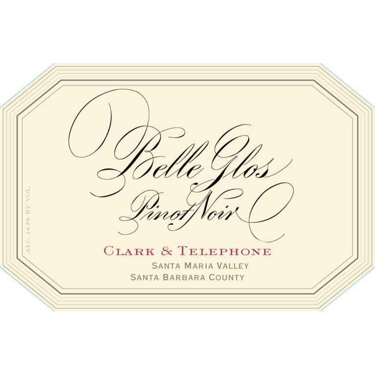 Belle Glos Clark and Telephone Vineyard Pinot Noir 2015 Front Label