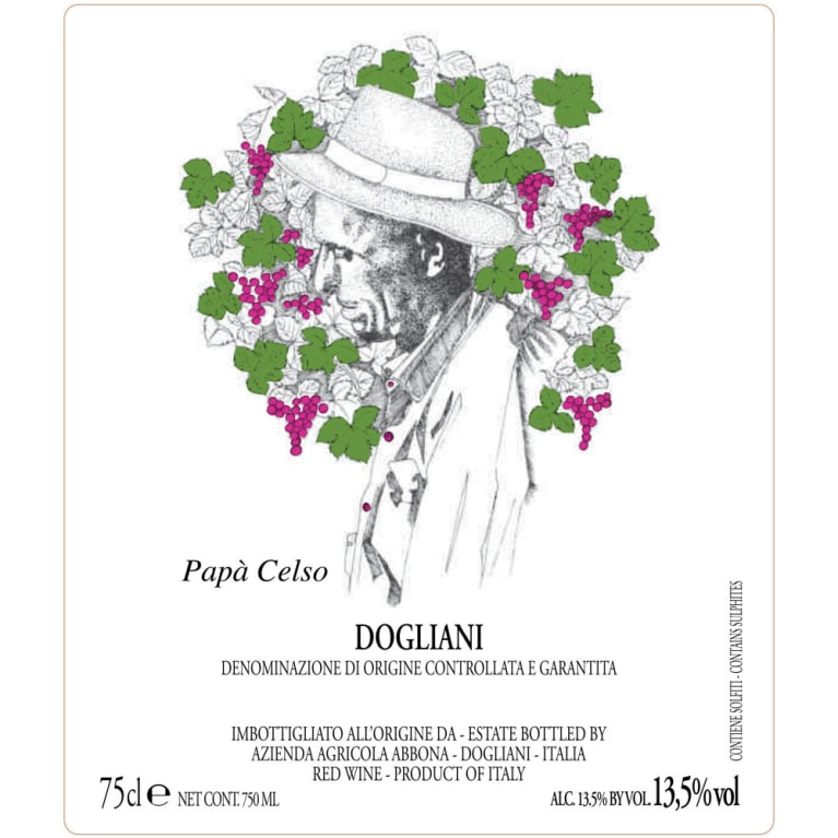 Abbona Papa Celso Dolcetto 2012 Front Label