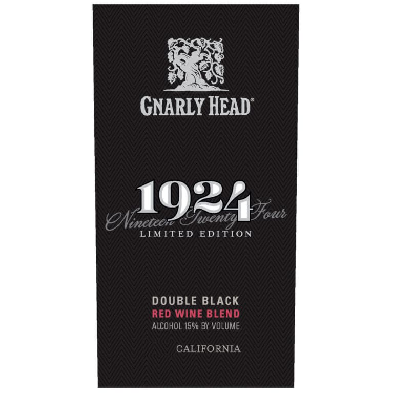 1924 Double Black Red Blend 2015 Front Label