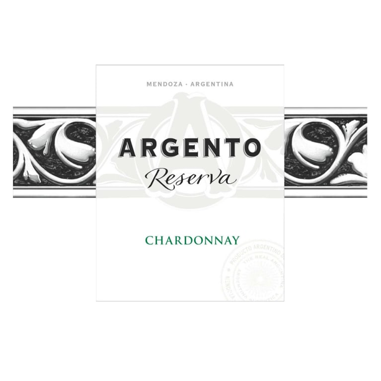 Argento Reserva Chardonnay 2015 Front Label